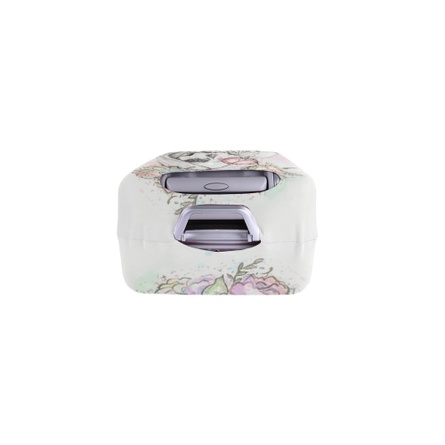 """Boho Queen, skull girl, watercolor woman Luggage Cover/Small 18""""-21"""""""