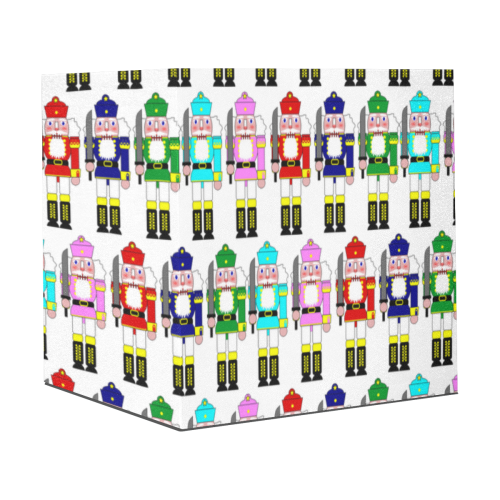 "Christmas Nutcracker Toy Soldiers on White Gift Wrapping Paper 58""x 23"" (1 Roll)"