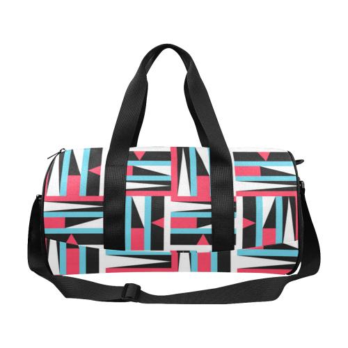Retro Geometric Abstract Duffle Bag (Model 1679)