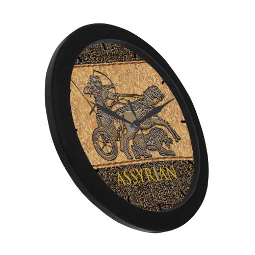 Assyrian Warriors Circular Plastic Wall clock