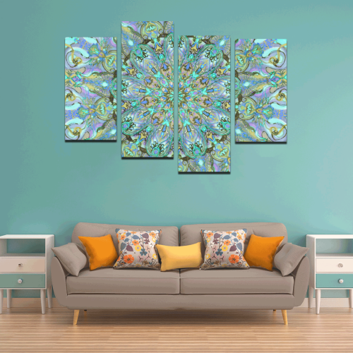 mandala 2 Canvas Wall Art Y (4 pieces)