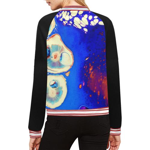 trois fleurs jacket All Over Print Bomber Jacket for Women (Model H21)