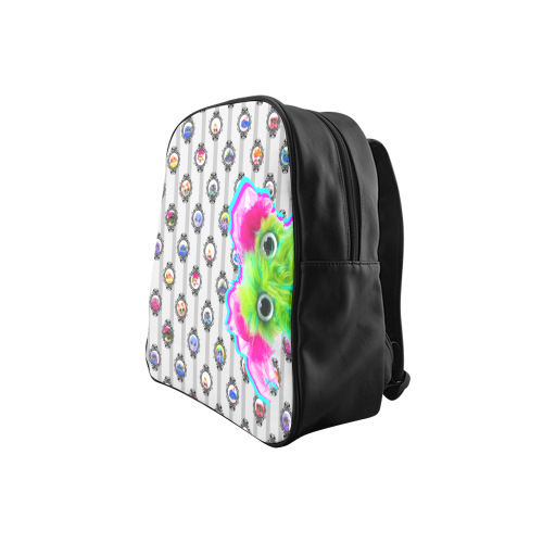 popart_saltybangbang_gray School Backpack (Model 1601)(Small)