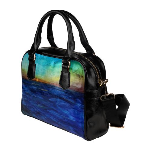 Sunset Seacape #1 Shoulder Handbag (Model 1634)