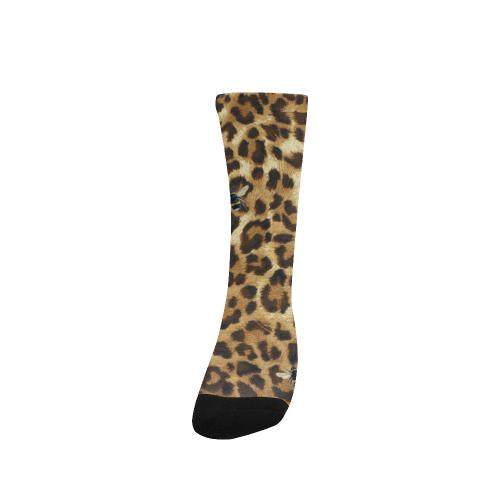 Buzz Leopard Custom Socks for Women