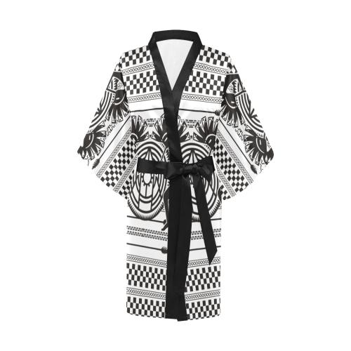 Native American Kokopelli Musicans - Modern Sun Ra Kimono Robe
