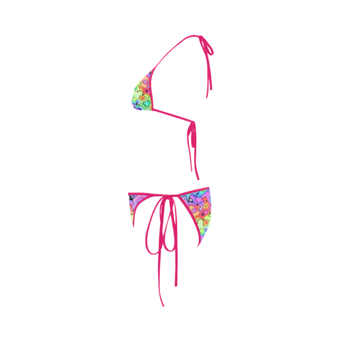 Squirlies Hot Pink Custom Bikini Swimsuit