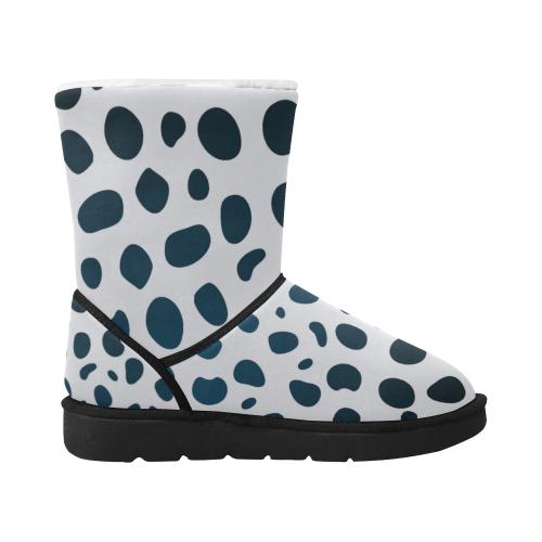 animal Leopard skin DESIGn WINT. BOOTS BW Unisex Single Button Snow Boots (Model 051)