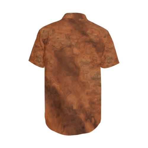 Mars Men's Short Sleeve Shirt with Lapel Collar (Model T54)
