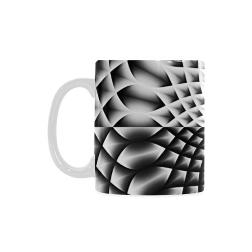 Lotus Flower Mandala Black Grey White Custom White Mug (11OZ)