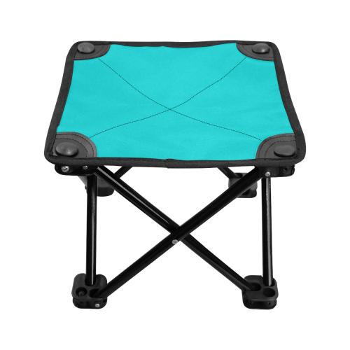color dark turquoise Folding Fishing Stool