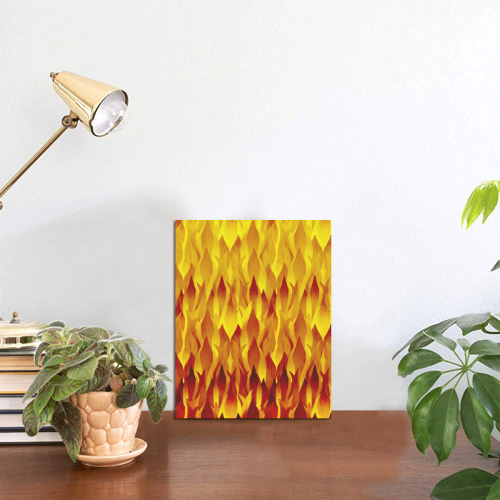 """Hot Fire and Flames Illustration Photo Panel for Tabletop Display 6""""x8"""""""