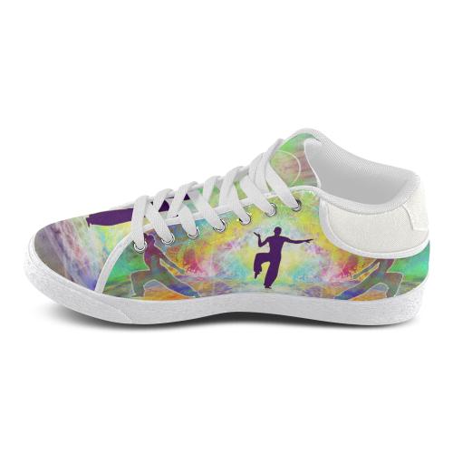 MYSTIC UNIVERSE 4 Men's Chukka Canvas Shoes (Model 003)