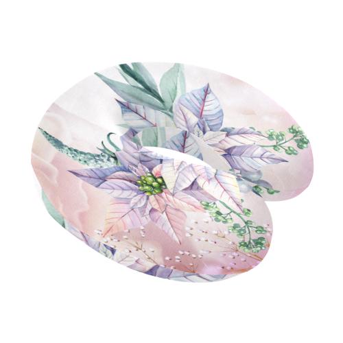 Wonderful flowers, watercolor U-Shape Travel Pillow