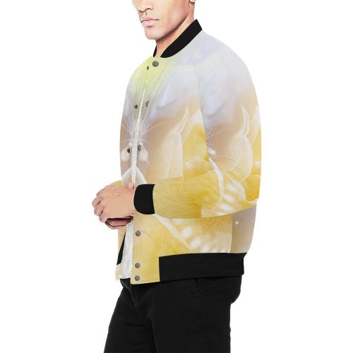 Soft yellow roses Men's All Over Print Baseball Jacket (Model H26)
