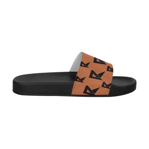 Women's Slide Sandals (Brown) Women's Slide Sandals (Model 057)
