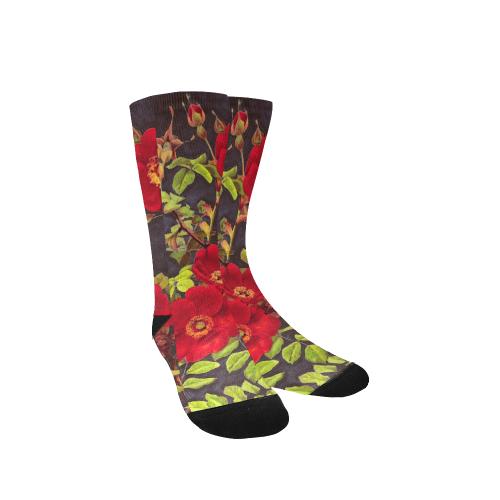 flowers #flowers #pattern #flora Custom Socks for Women