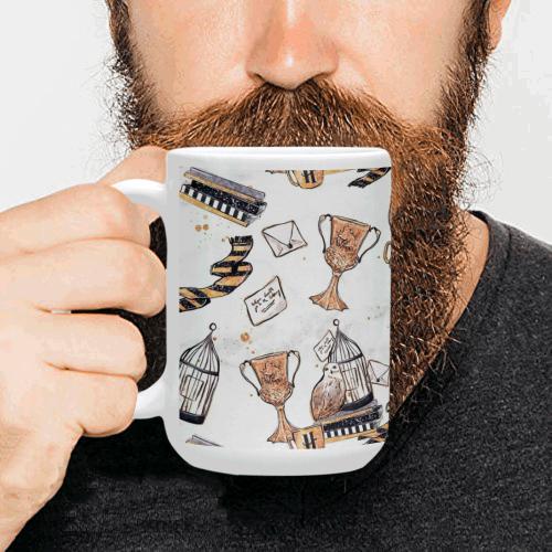 Hufflepuff Custom Ceramic Mug (15OZ)