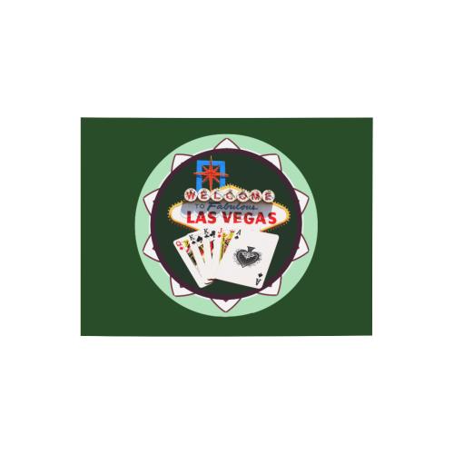 "LasVegasIcons Poker Chip - Poker Hand on Green Photo Panel for Tabletop Display 8""x6"""