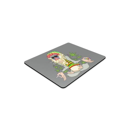 Hippie Ganja Guru Grey Rectangle Mousepad