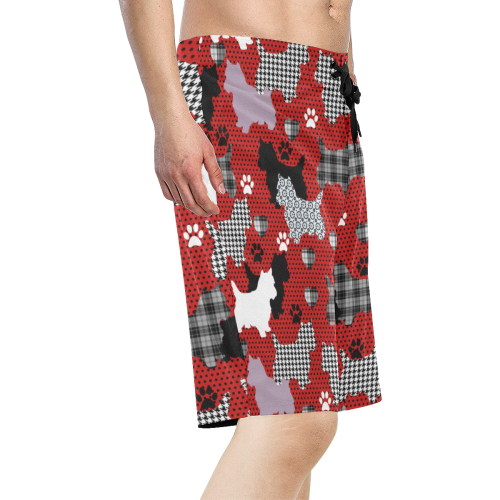 Westie II Men's All Over Print Board Shorts (Model L16)