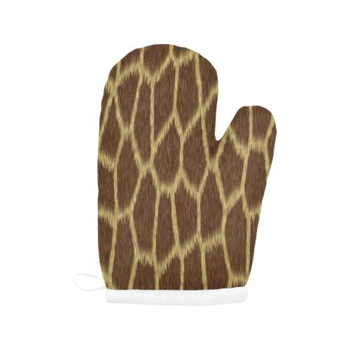 Giraffe Print Oven Mitt (Two Pieces)