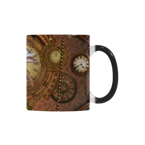 Funny steampunk dolphin, clocks and gears Custom Morphing Mug (11oz)