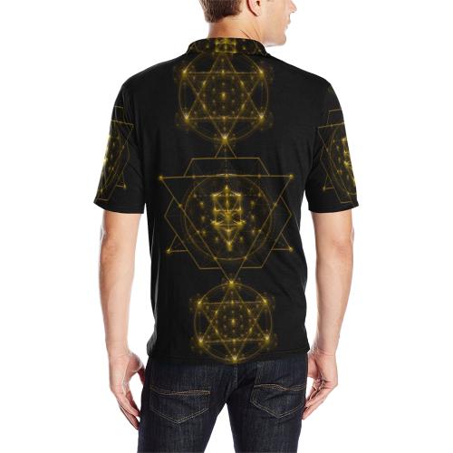 Sacred Geometry Men's All Over Print Polo Shirt (Model T55)
