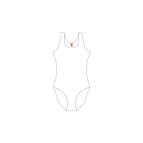 Insectal Convergance 4 Private Brand Tag on Women's One Piece Swimsuit (3cm X 5cm)