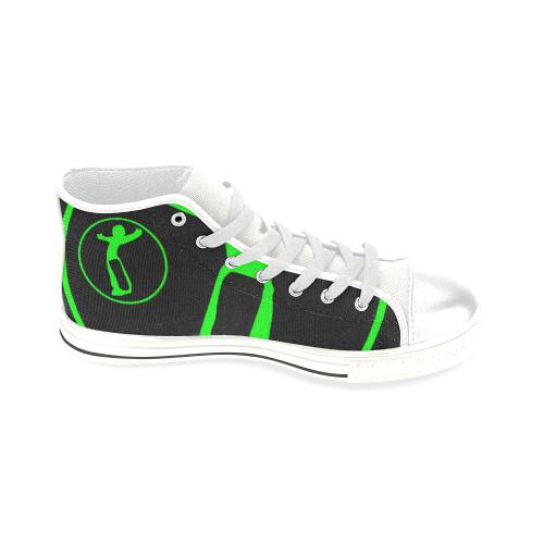 DW wht blk green remix Men's Classic High Top Canvas Shoes (Model 017)