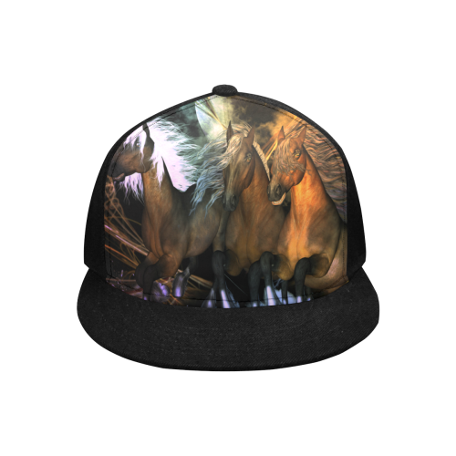 4horses2 Snapback Hat G (Front Panel Customization)