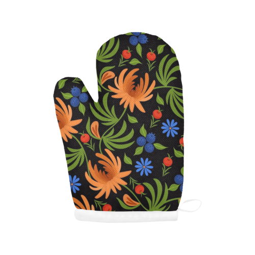 Gorgeous Floral Oven Mitt (Two Pieces)