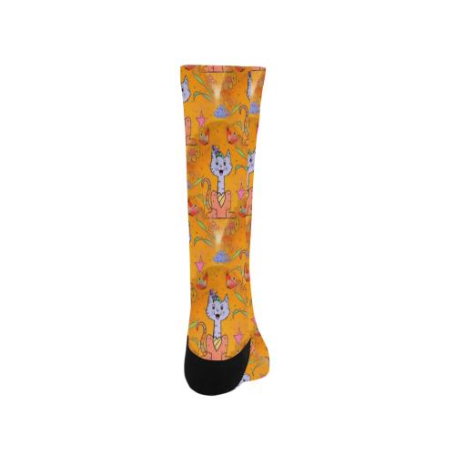 Cats by Nico Bielow Trouser Socks (For Men)