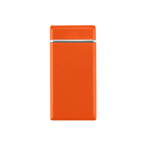 color orange red Rectangular USB Lighter (Lateral Button)