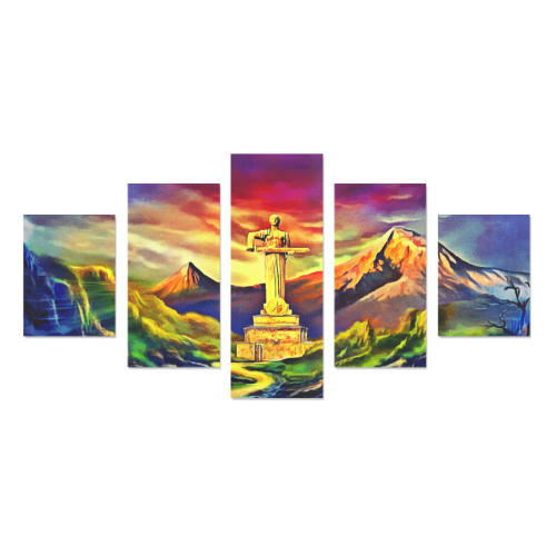 Mother Armenia Մայր Հայաստան Canvas Wall Art Z (5 pieces)