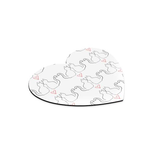 Cats Heart-shaped Mousepad