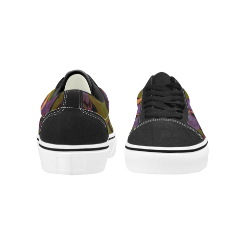 zappwaits california 03 Women's Low Top Skateboarding Shoes (Model E001-2)