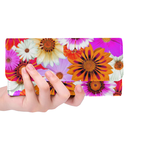 Spring Time Flowers 2 Women's Trifold Wallet (Model 1675)