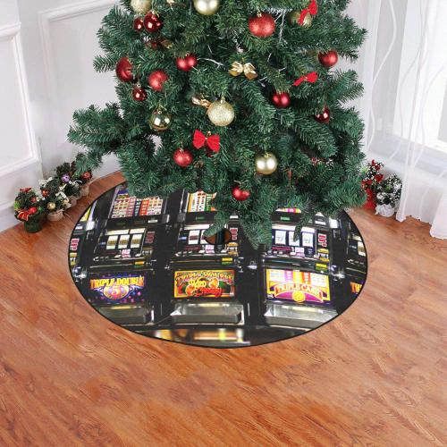"""Lucky Slot Machines - Dream Machines Christmas Tree Skirt 47"""" x 47"""""""