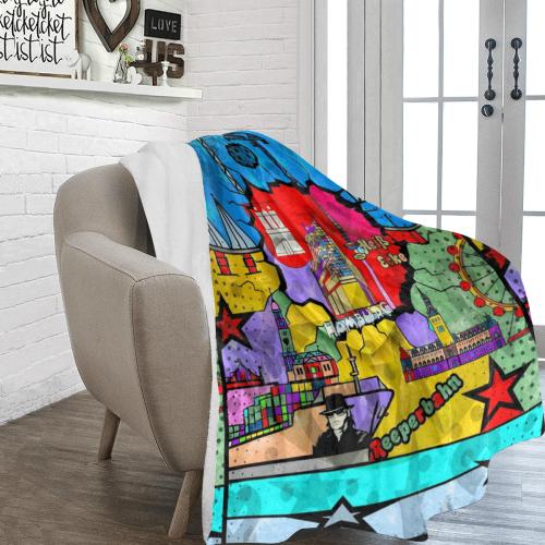 Hamburg by Nico Bielow Ultra-Soft Micro Fleece Blanket 70''x80''