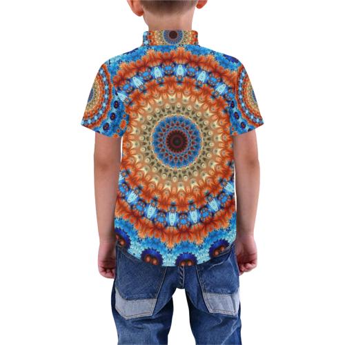 Kaleidoscope Boys' All Over Print Short Sleeve Shirt (Model T59)