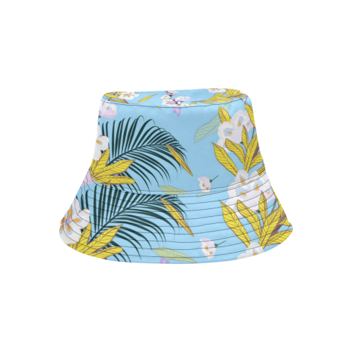 Summer Garden on Blue All Over Print Bucket Hat