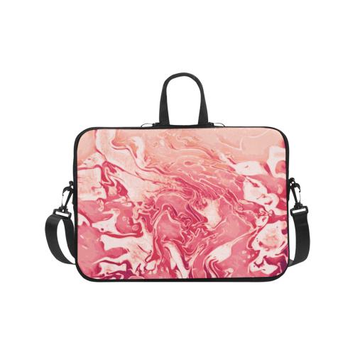 "Red Wine Celebration red pink orange beige abstract swirls Laptop Handbags 17"""