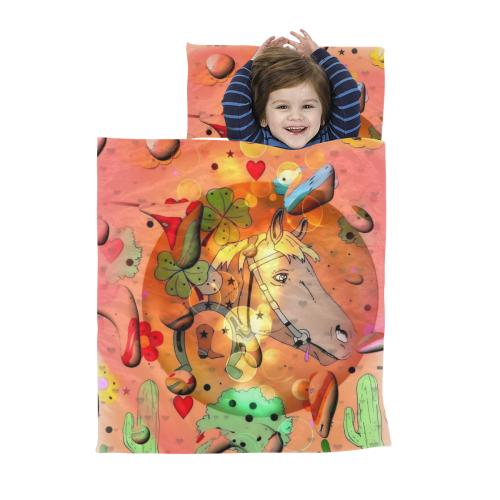Horse Pop Art by Nico Bielow Kids' Sleeping Bag