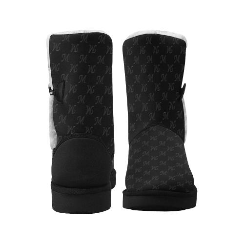 Mud-di Signature Black Unisex Single Button Snow Boots (Model 051)