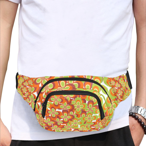 zappwaits flower 1 Fanny Pack/Small (Model 1677)