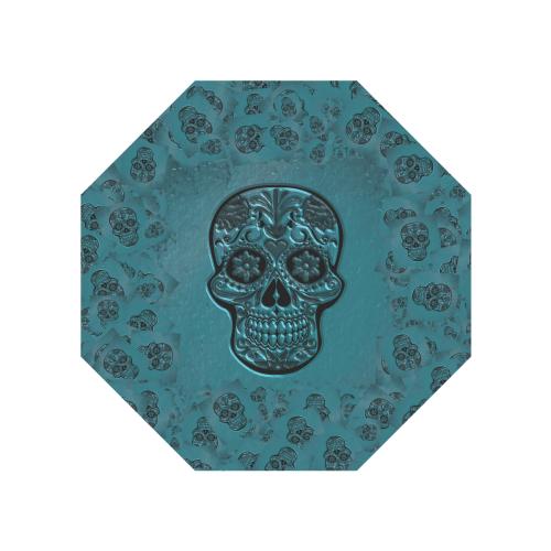 Skull20170225_by_JAMColors Anti-UV Auto-Foldable Umbrella (Underside Printing) (U06)