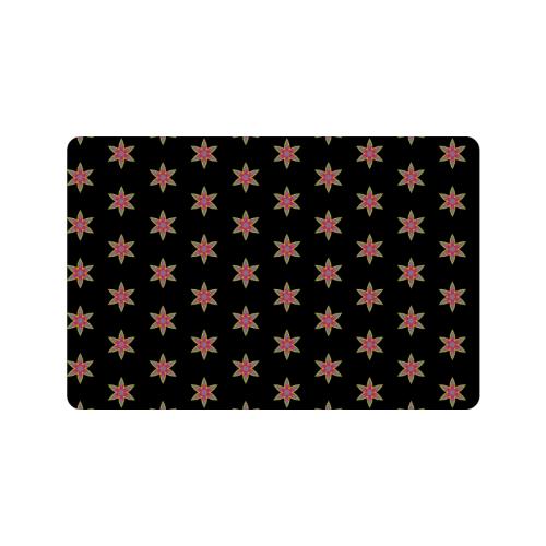 "6 point stars pattern Doormat 24""x16"""