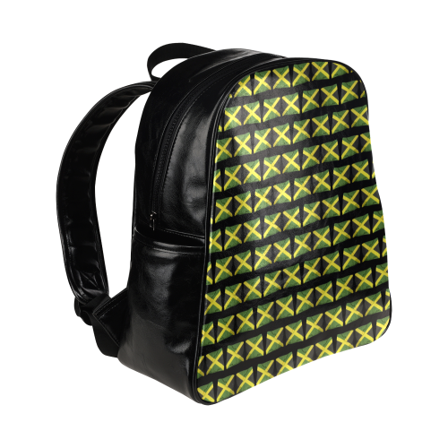 Jamaican Flags Multi-Pockets Backpack (Model 1636)