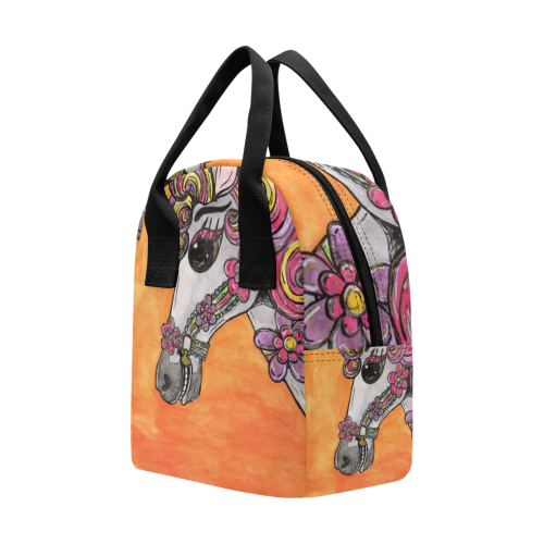 Carousel Horse Lunch Tote Zipper Lunch Bag (Model 1689)